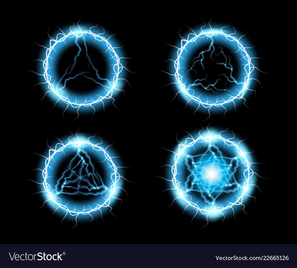 Ball lightning light effect abstract round frame
