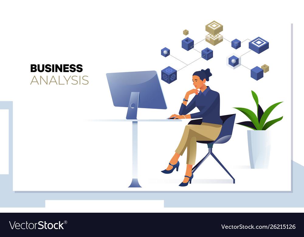 Business analysis data analyticsbusinesswoman
