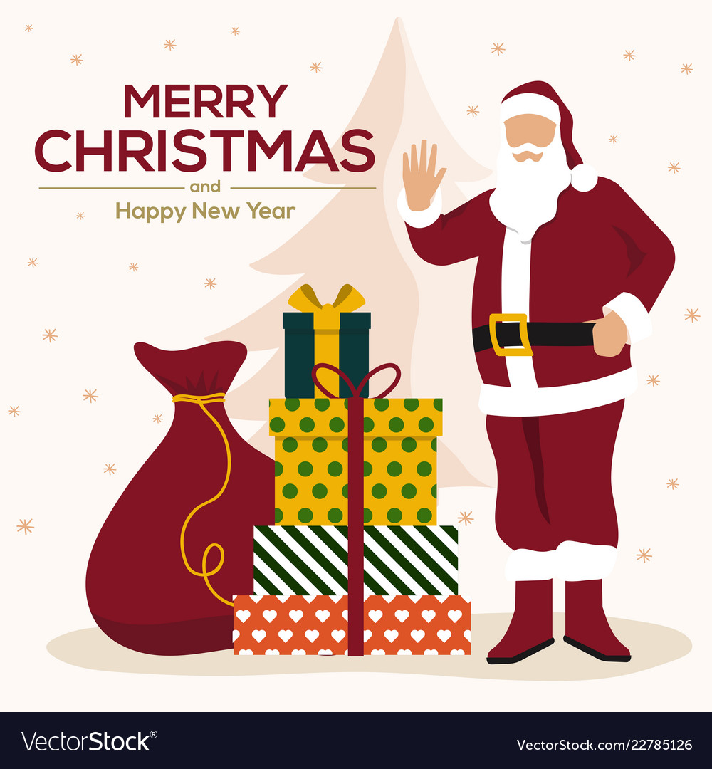 Christmas cards design flat 4