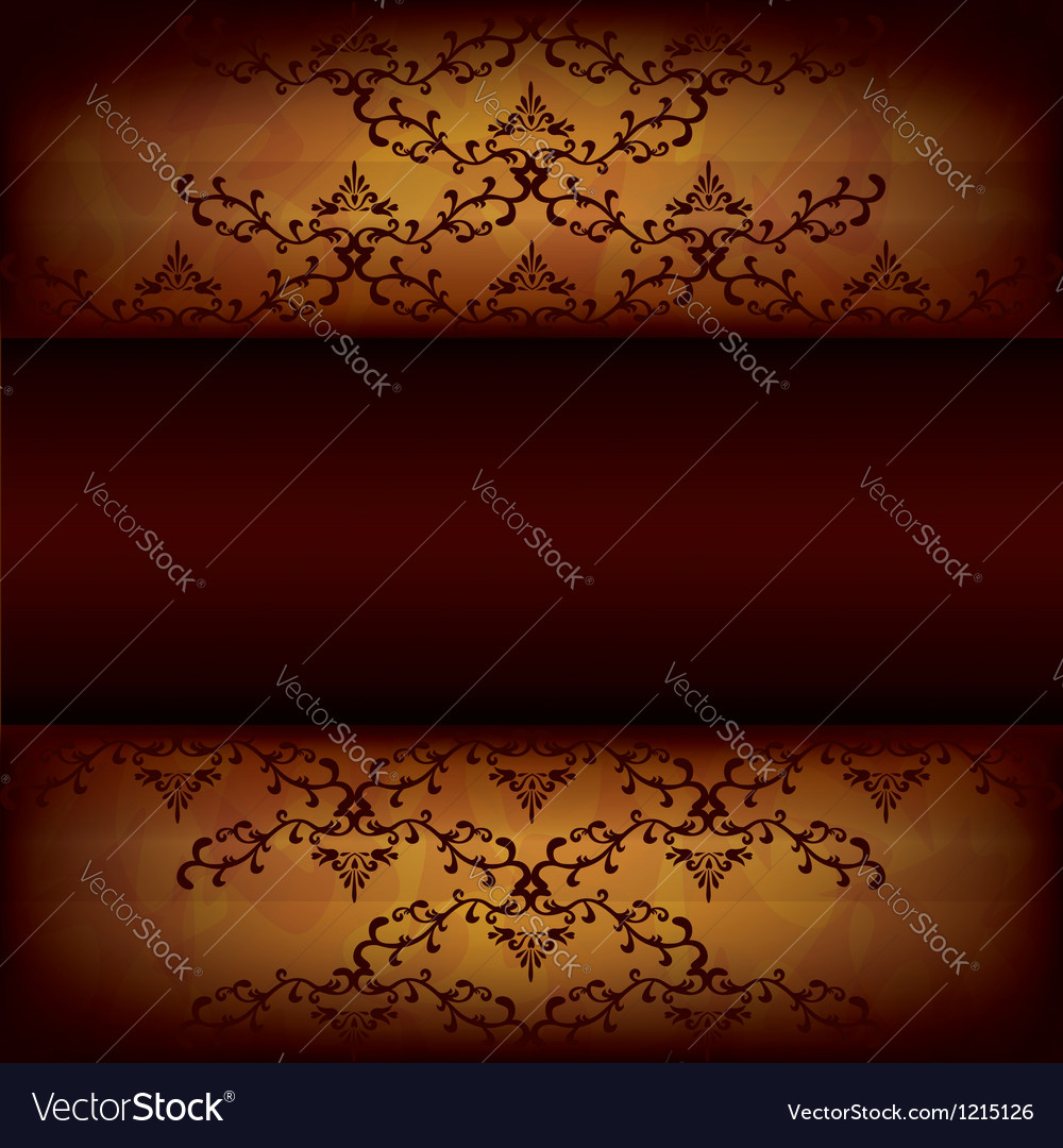 Grunge background with decorative pattern vector image