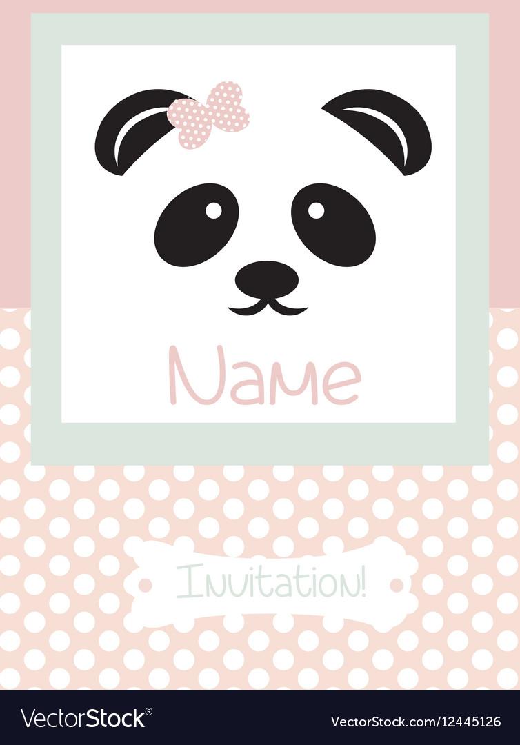 Invitation Card retro dotted pattern