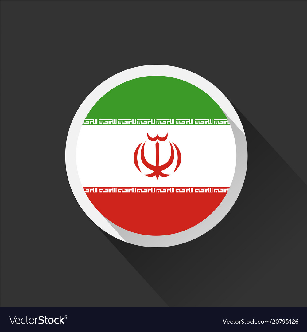 Iran national flag on dark background
