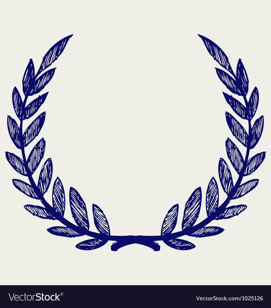 laurel wreath royalty free vector image vectorstock rh vectorstock com free laurel wreath vector clipart laurel wreath vector free download