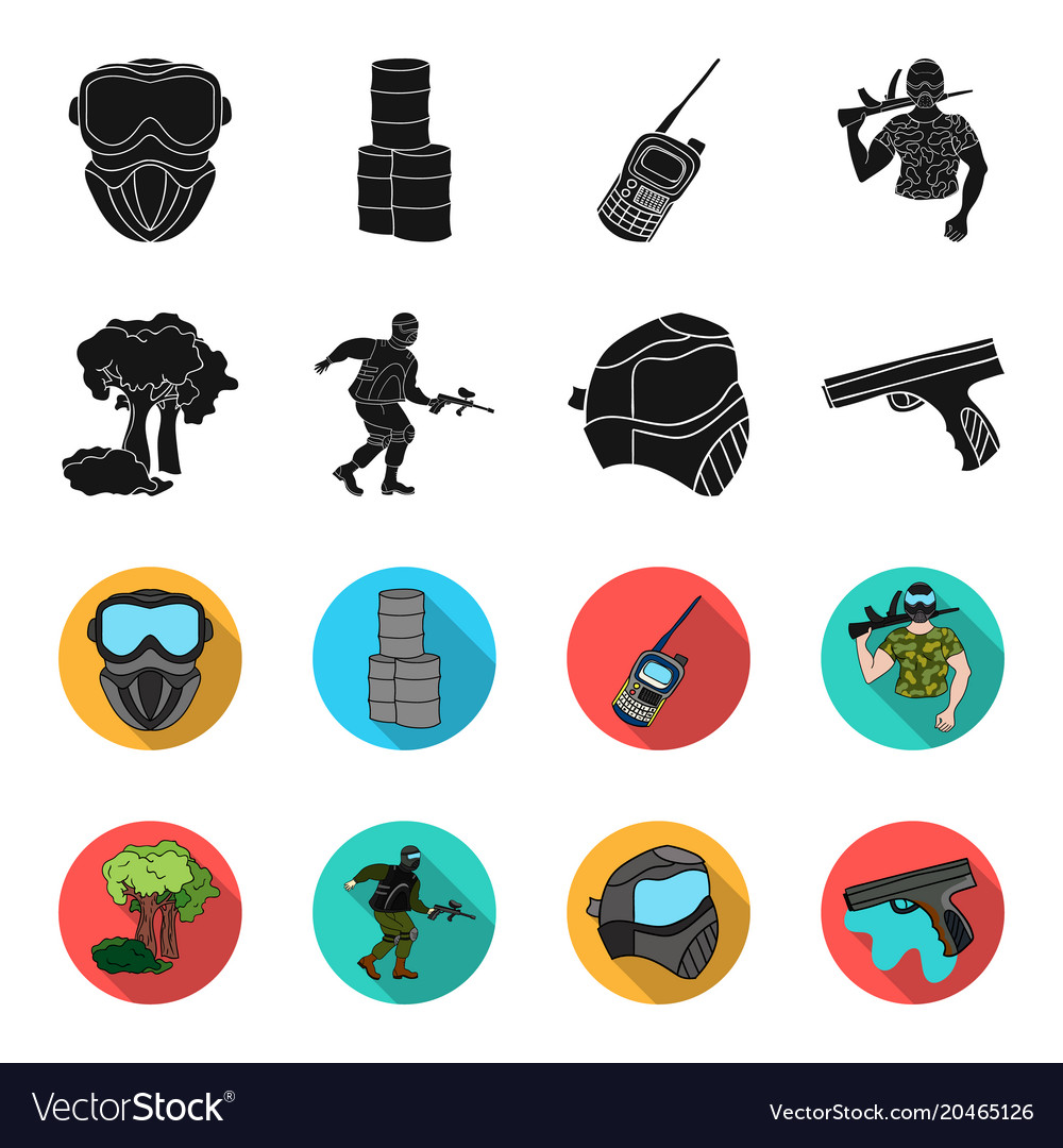 Mask gun paint inventory paintball set