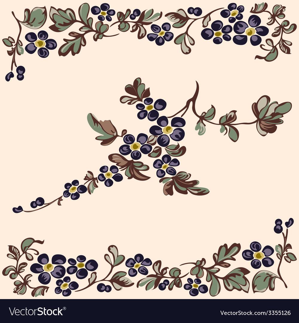 Pattern floral blue flower