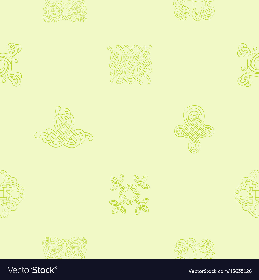Pattern with celtic art and ethnic ornaments