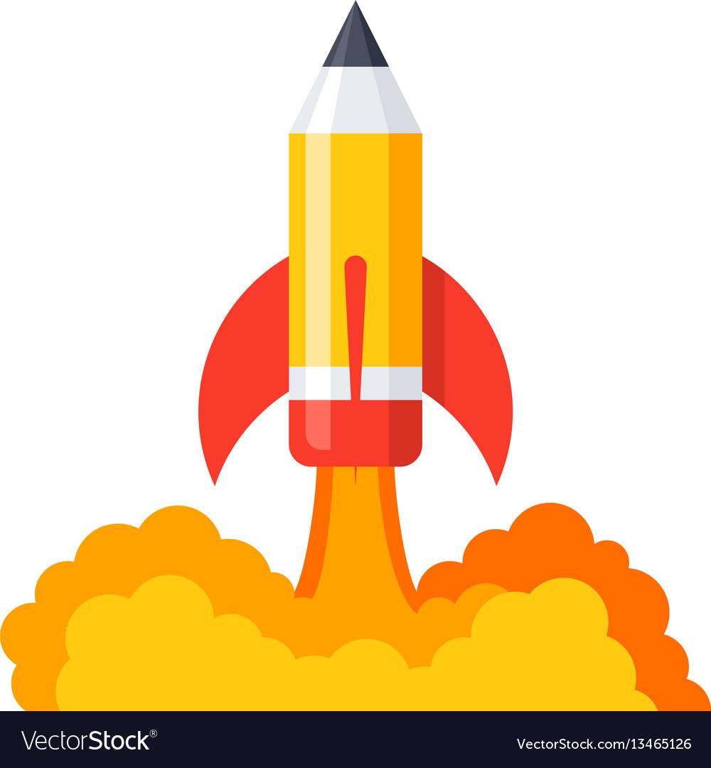 Pencil launch icon vector image