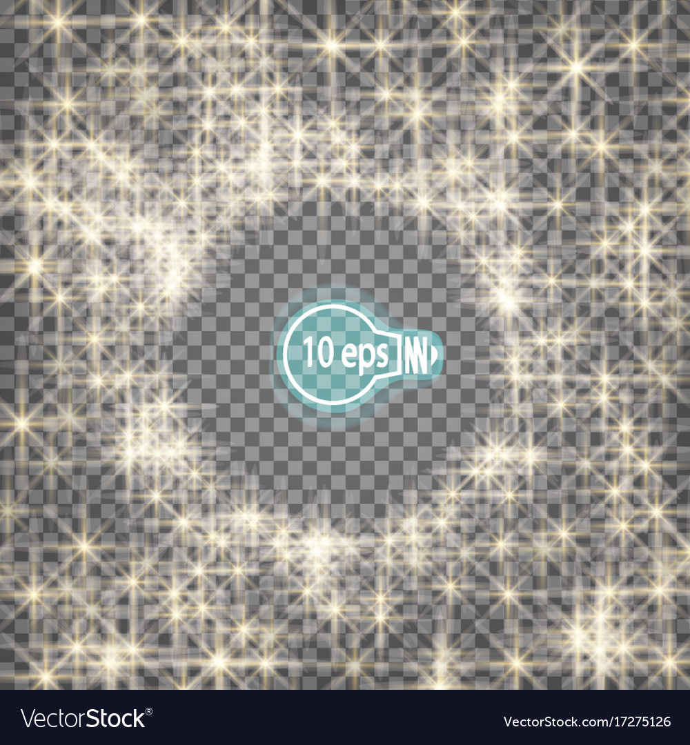 Stars on a transparent background in eps10 vector image