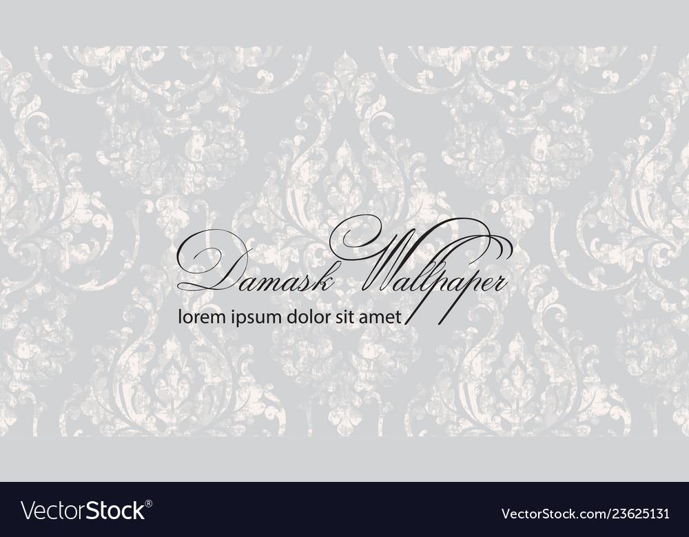 Baroque wallpaper floral ornament