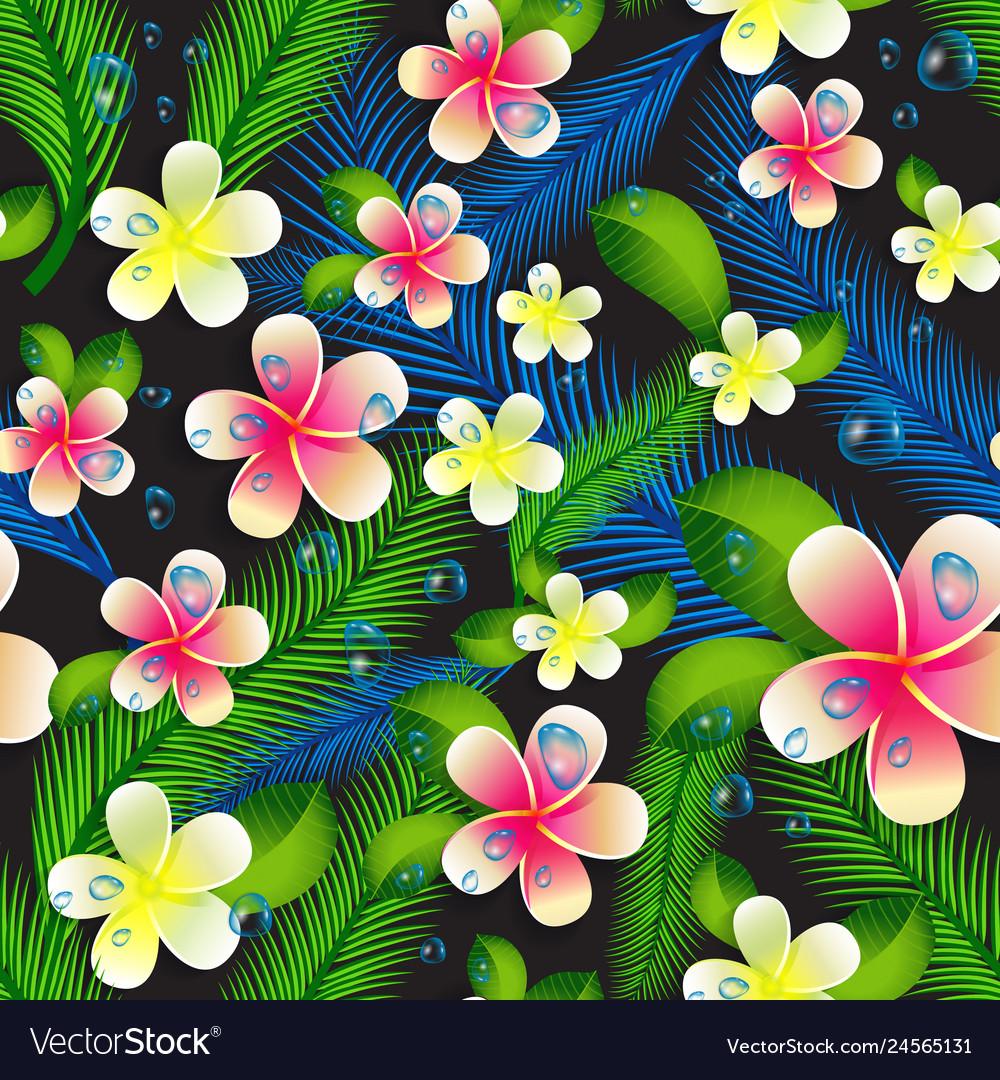 Beautiful seamless floral jungle pattern