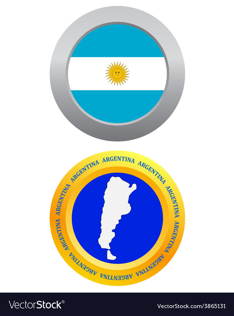 Button as a symbol ARGENTINA vector image