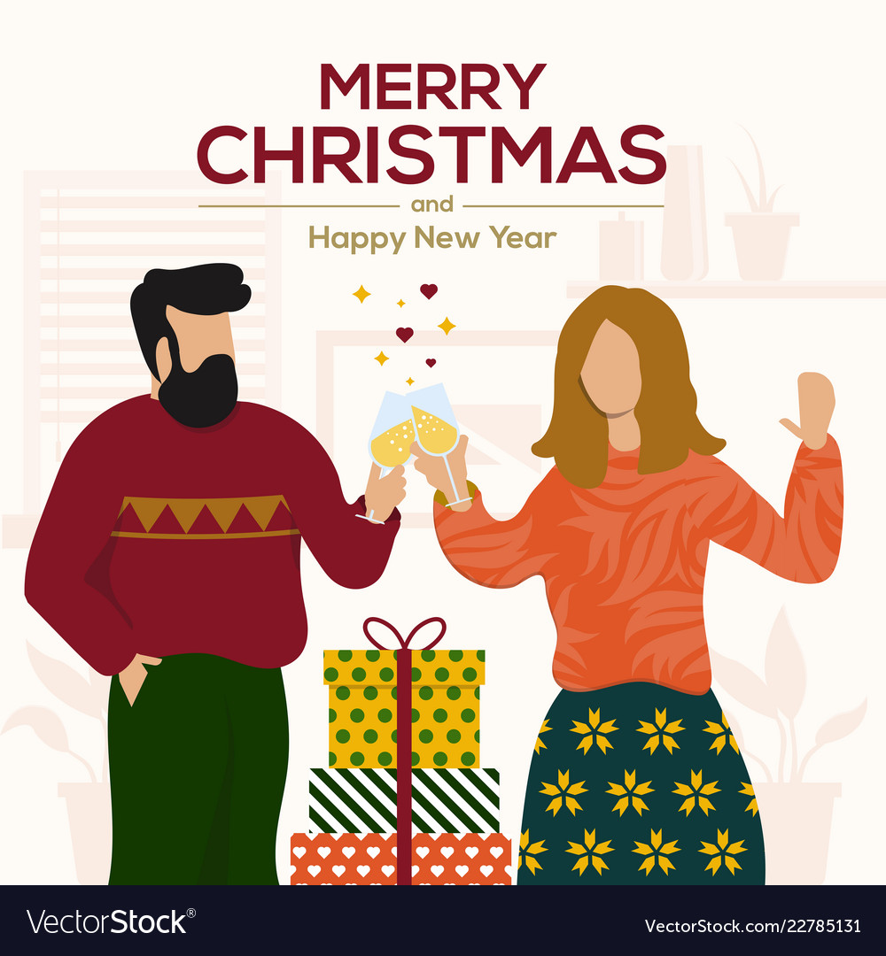 Christmas cards design flat 5