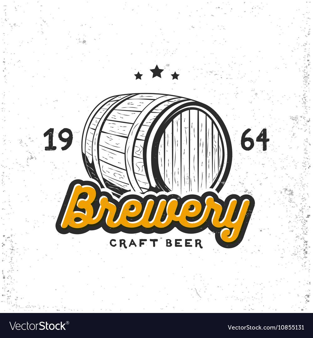 Creative logo design with beer barrel