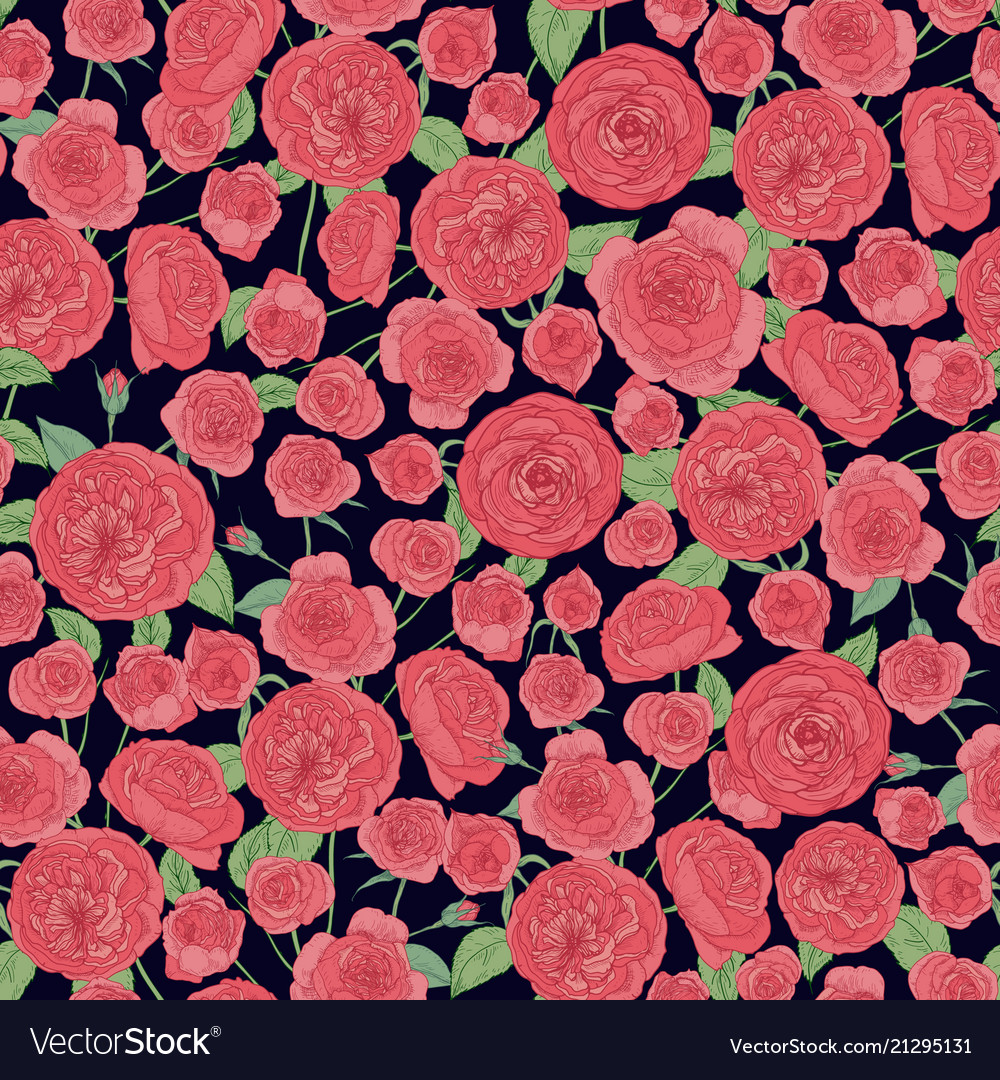 Elegant botanical seamless pattern with beautiful