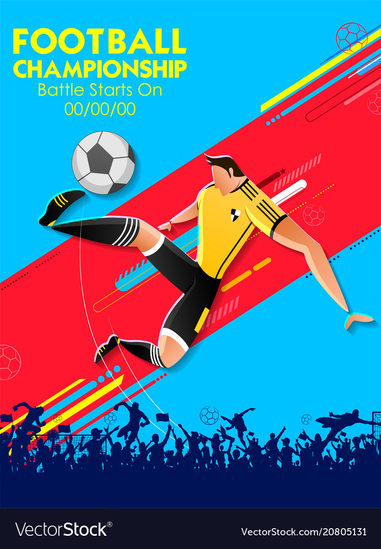 Football championship cup soccer sports background