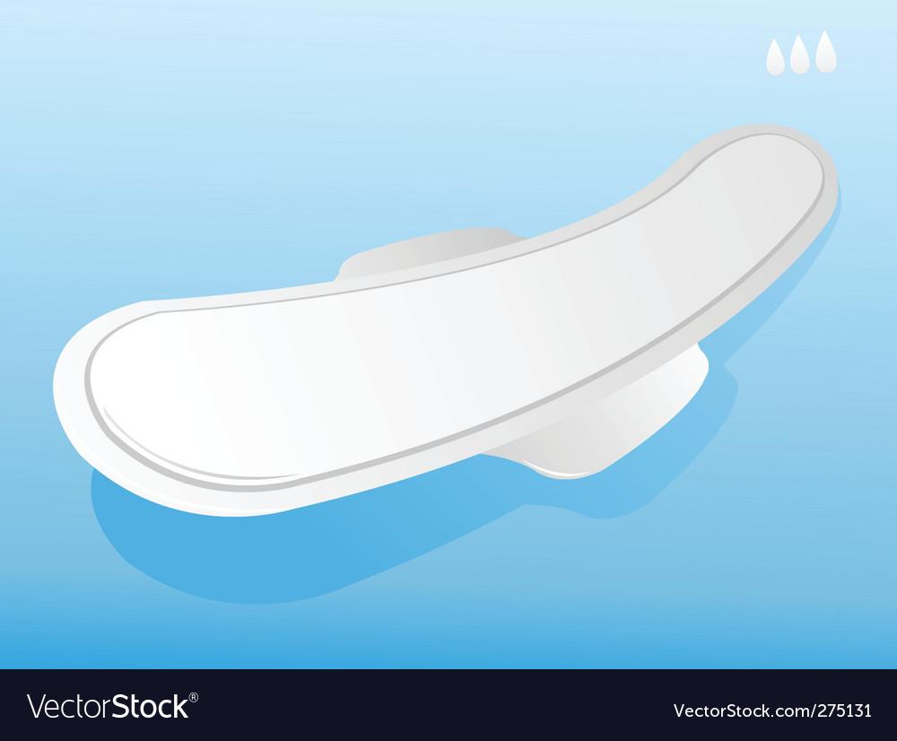 Illustration of sanitary napkin vector image