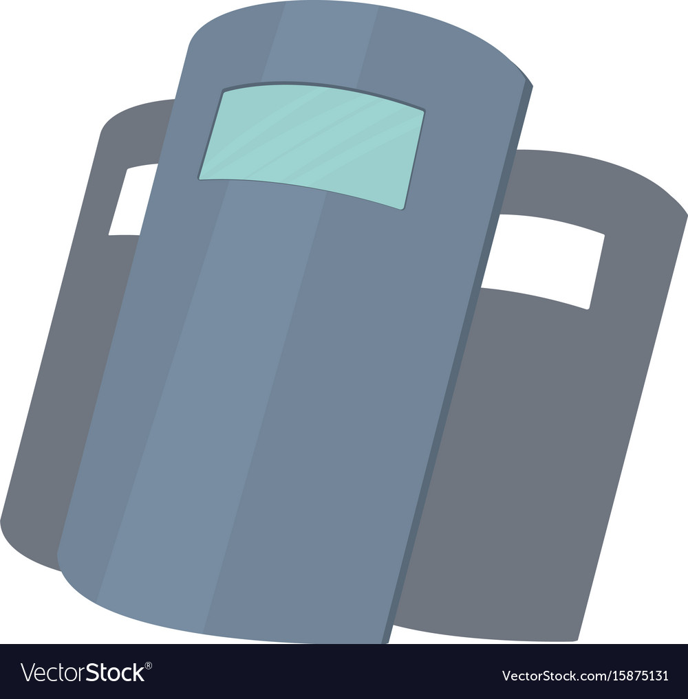 Police shields icon cartoon style