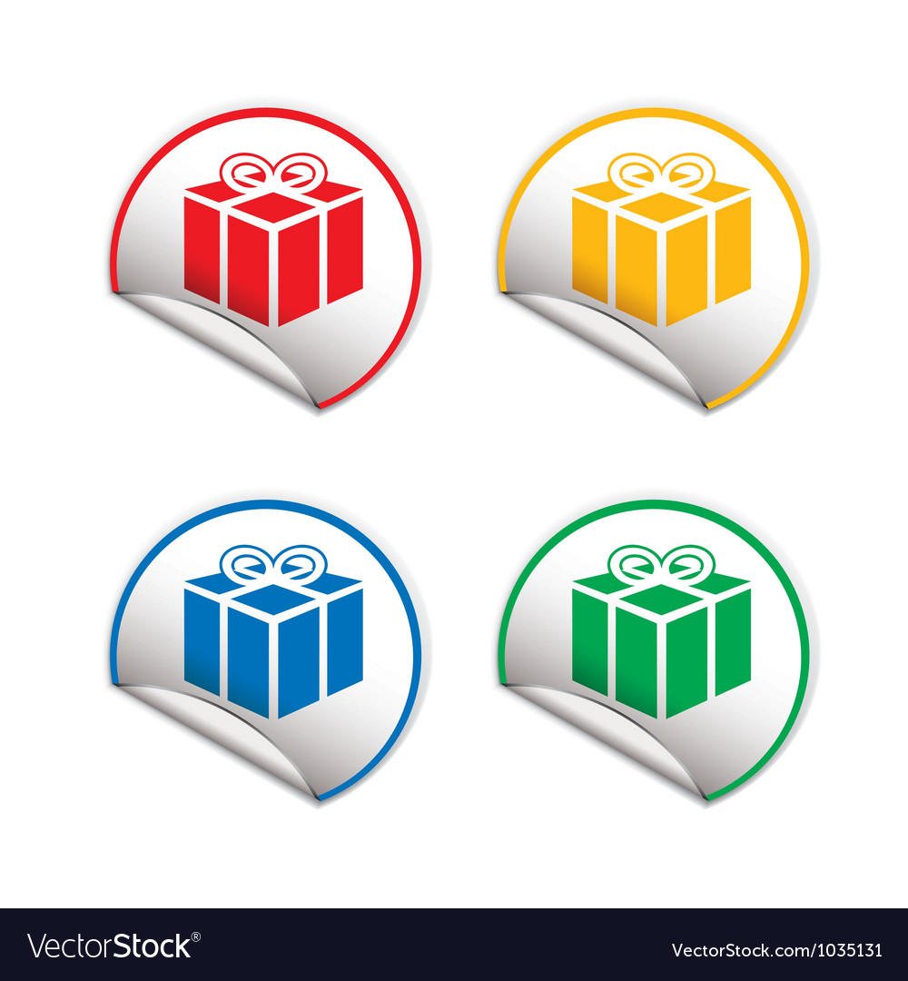 Present sticky tag vector image