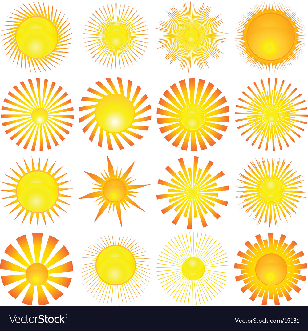 Sun shapes vector image