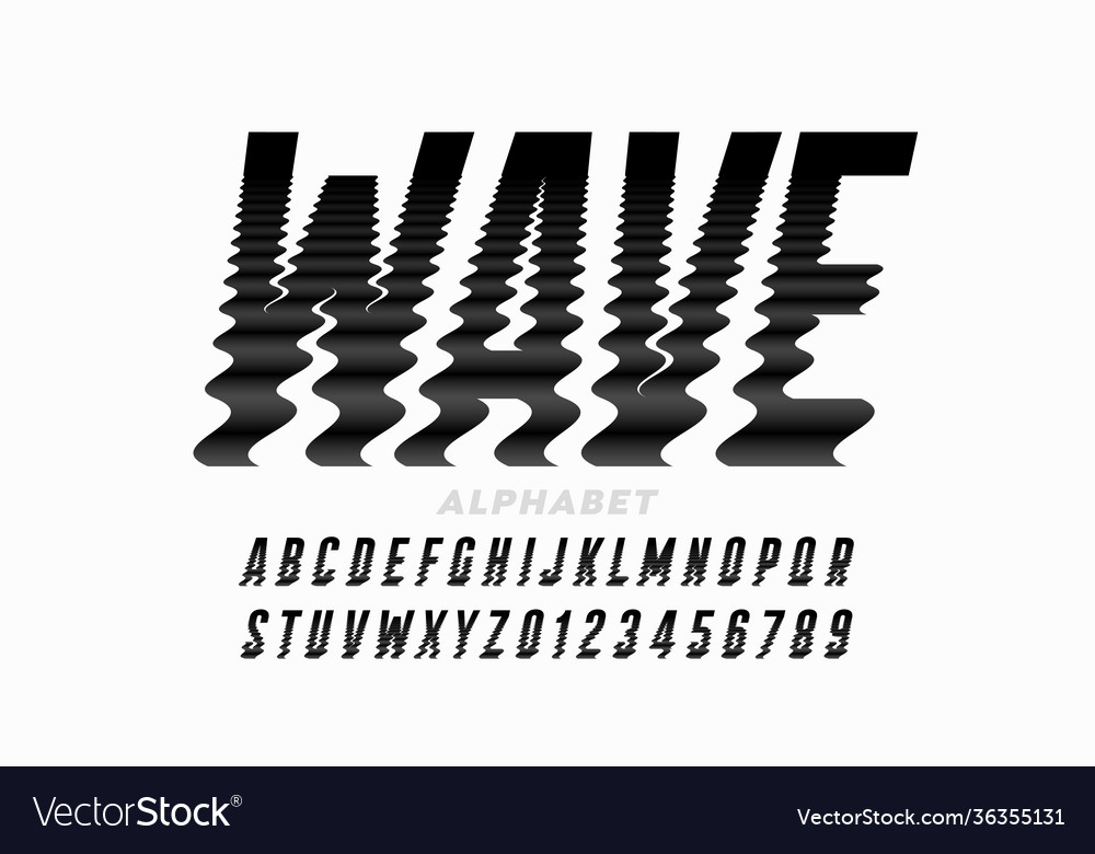 Water waves style font