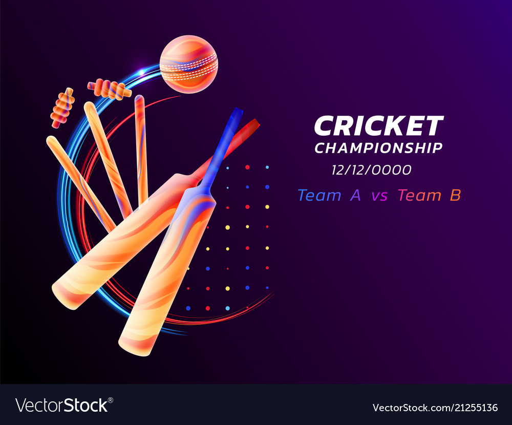 Abstract of cricket sport from
