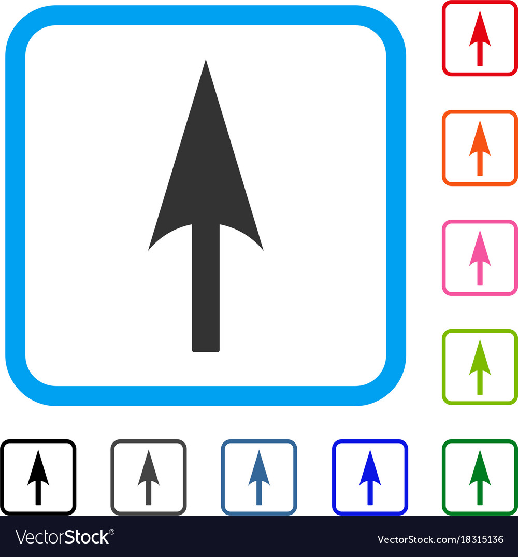 Arrow axis y framed icon