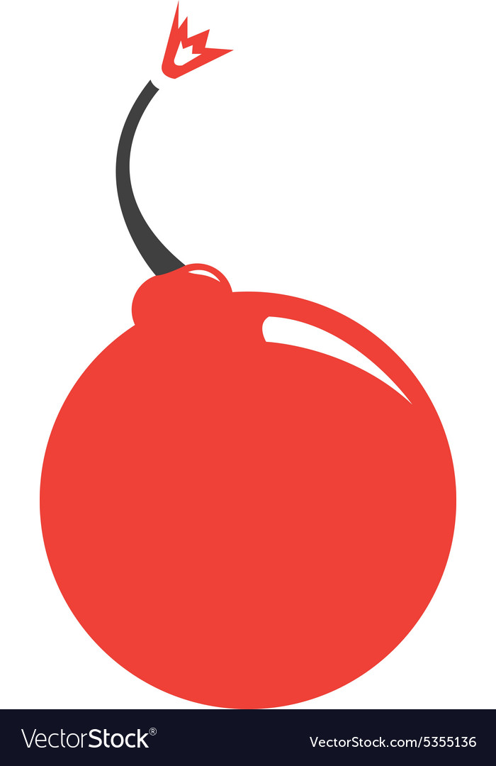 Cute Cherry Bomb Vector Image