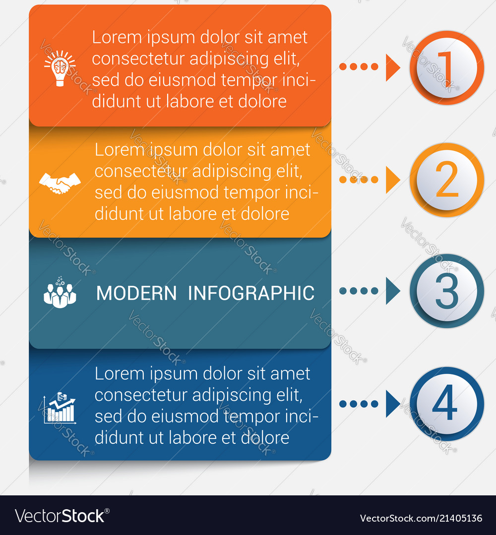 Modern strips infographics 4 options banner