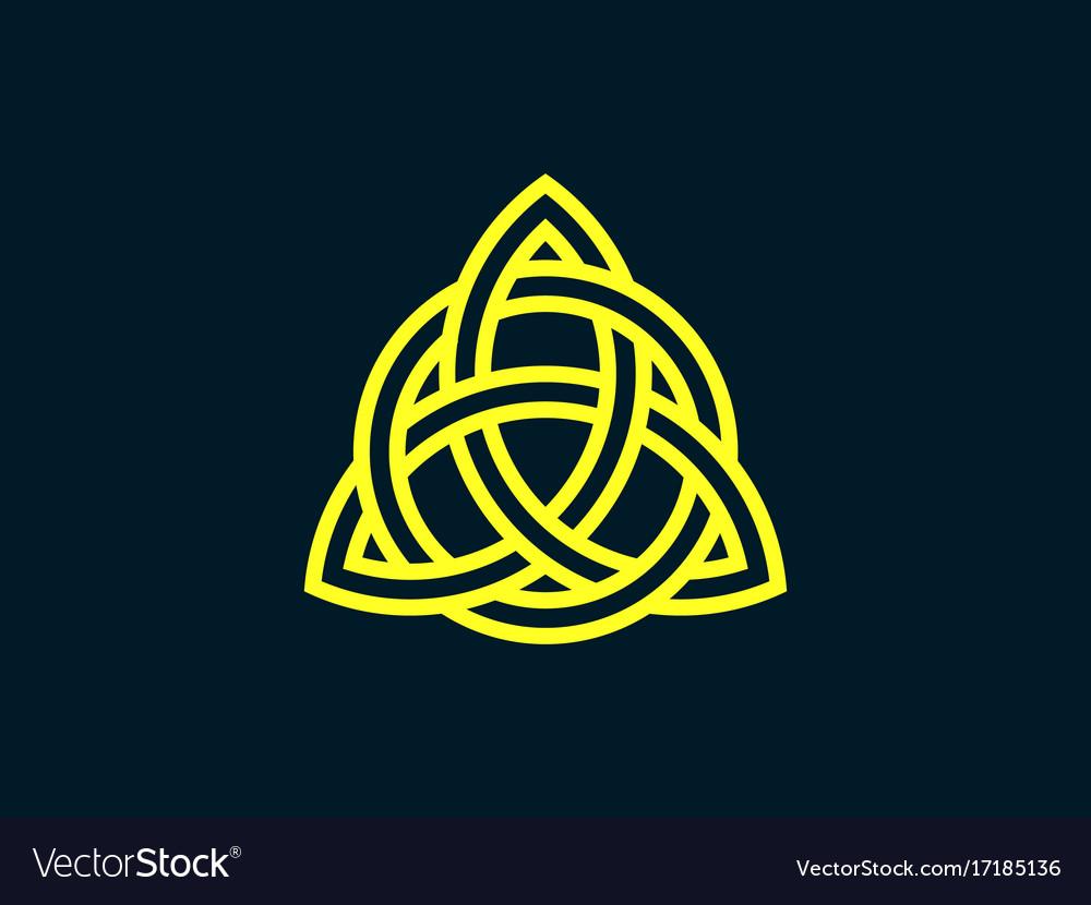 Triquetra Trinity Knot Celtic Symbol Royalty Free Vector