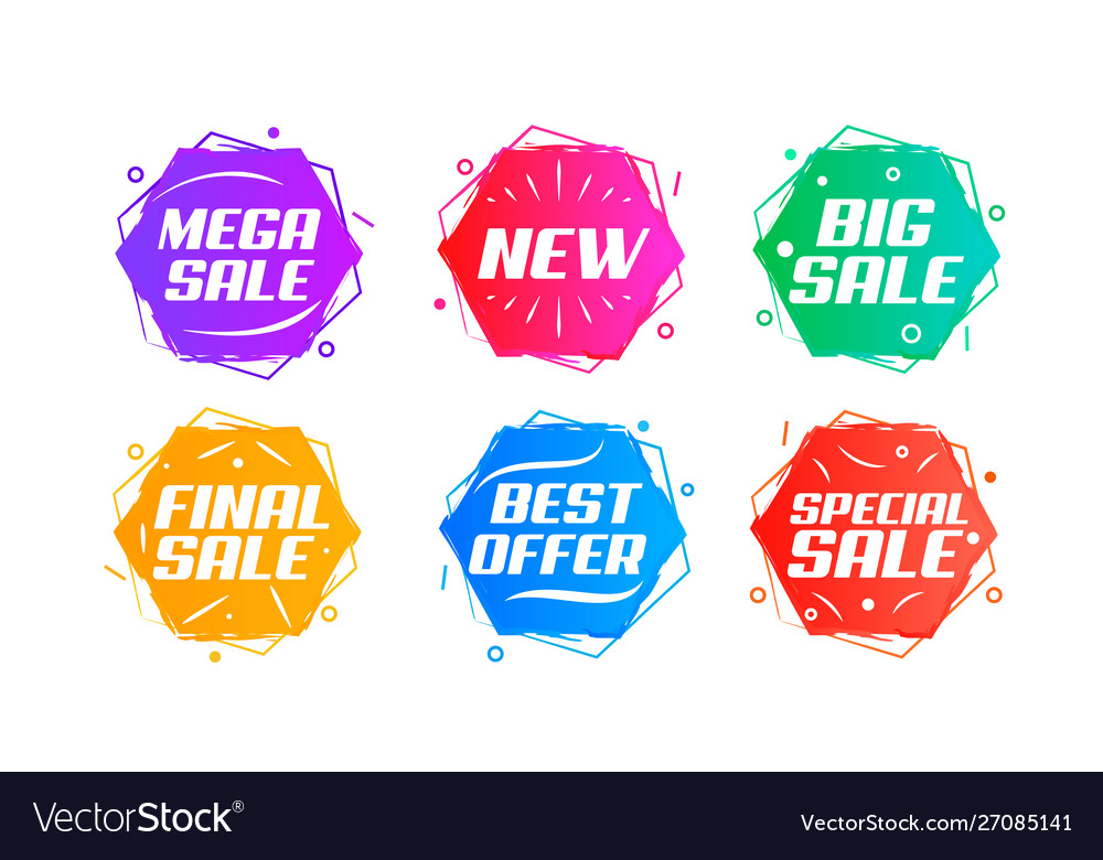 Abstract sale badge set