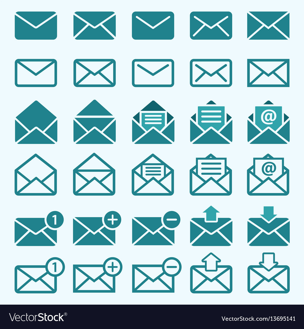 Envelope mail icons