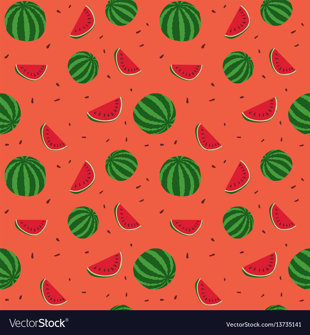 Watermelon Carving Templates | Fruits Watermelon Seamless Patterns Royalty Free Vector