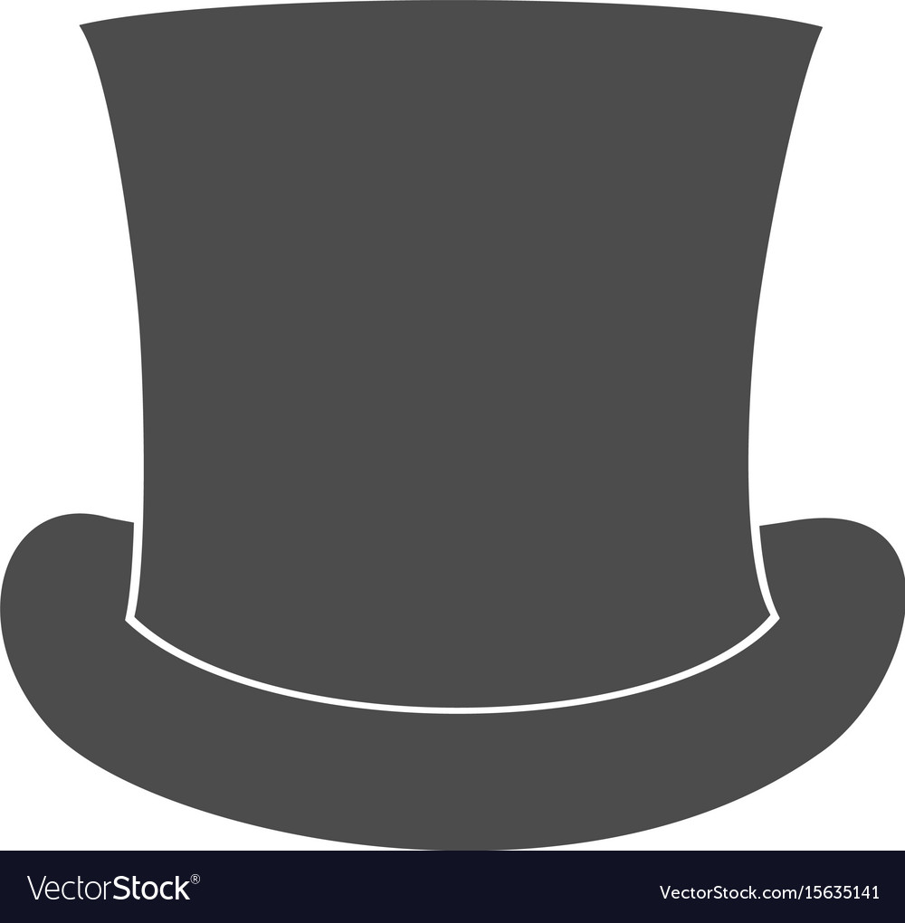3b5f5dc8a Top hat silhouette isolated on white background
