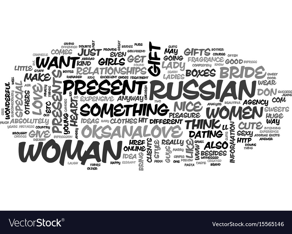 A gift idea for your russian bride text word vector image