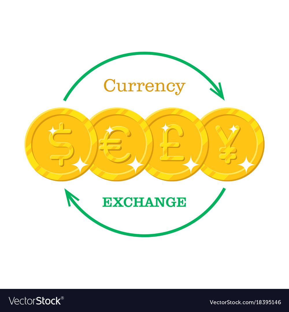 Gold Money Currency Exchange Vector Image