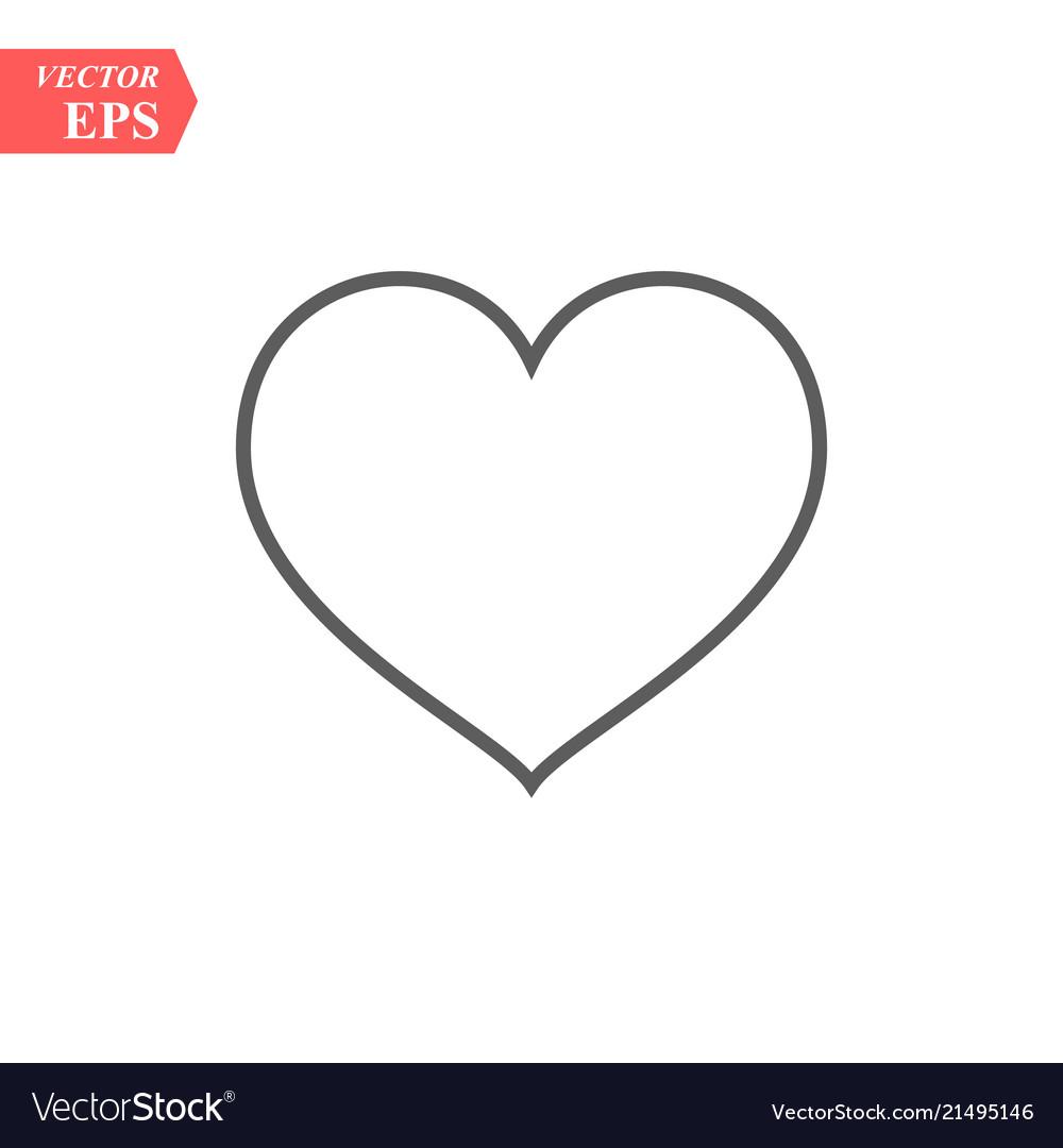 Modern heart line icon premium pictogram isolated