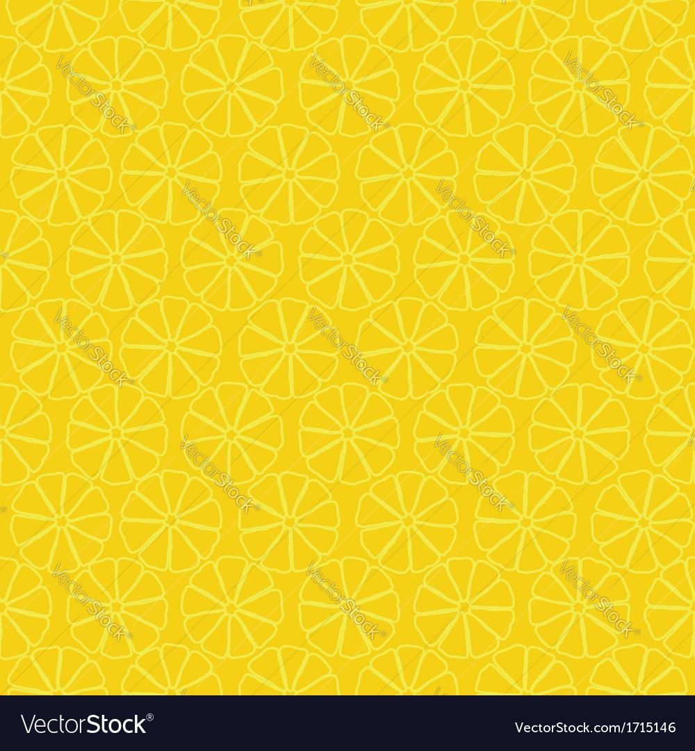 Seamless pattern of yellow lemons