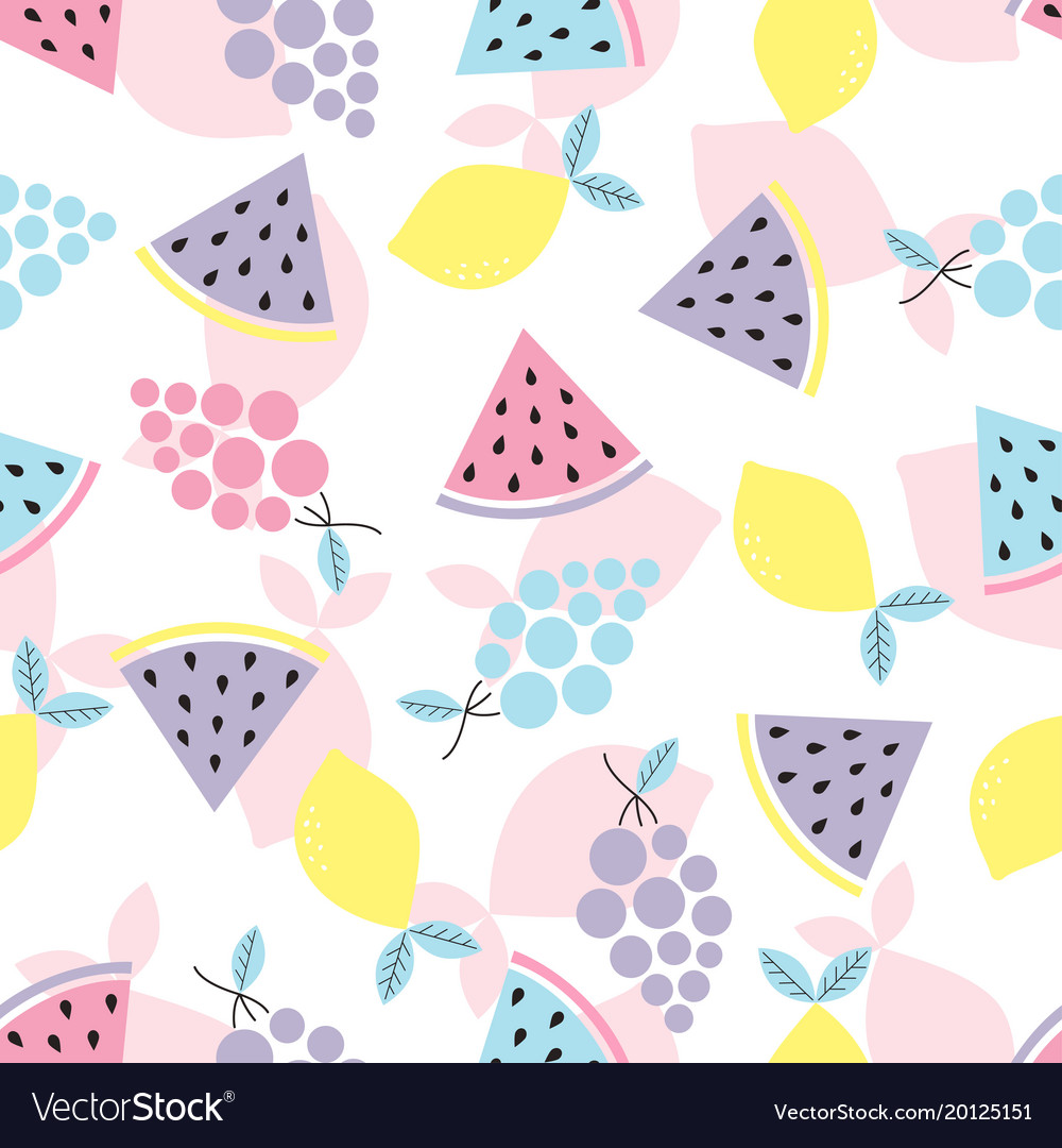 Abstract pattern with fruit
