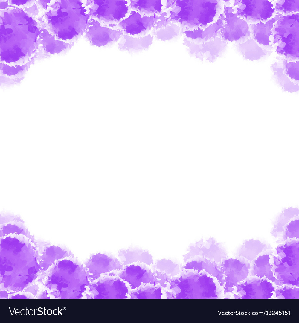 Abstract purple hand drawn watercolor background vector image