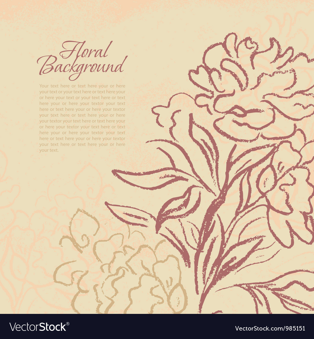 Beautiful peony vintage background