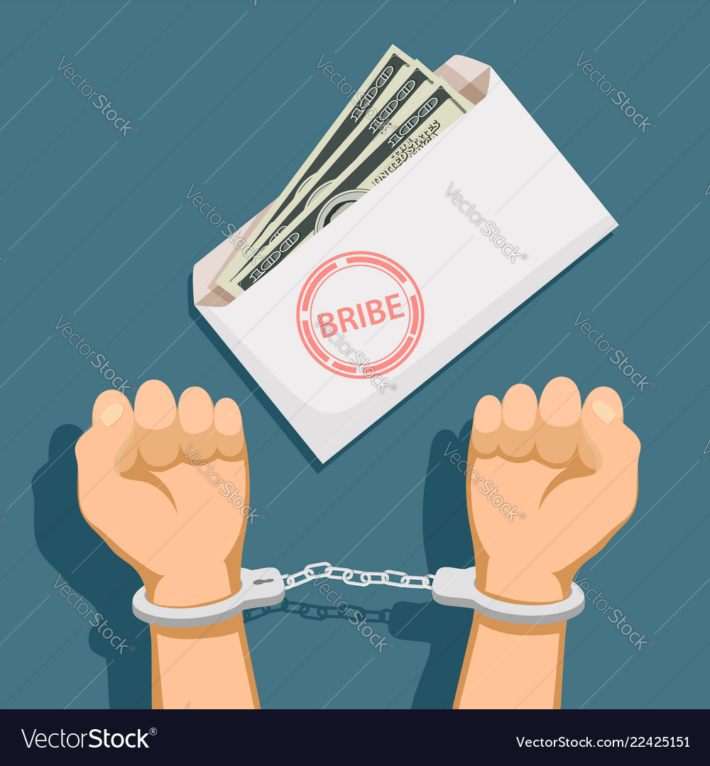 Bribery and corruption Royalty Free Vector Image
