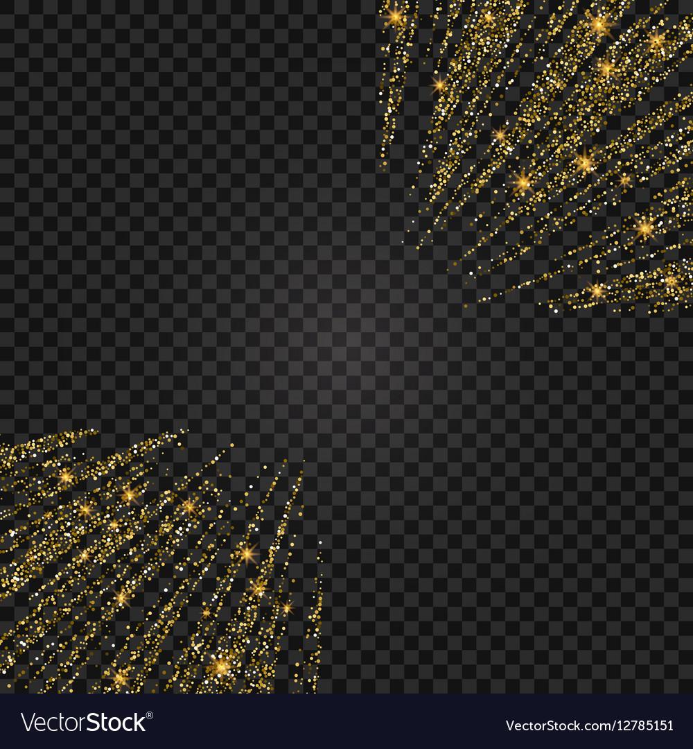Festive of falling shiny