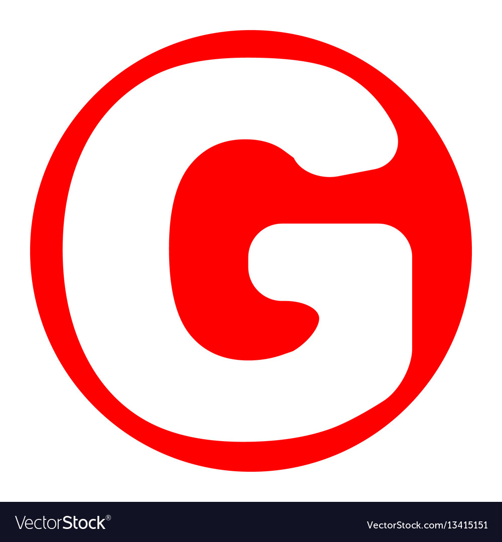 letter g sign design template element royalty free vector