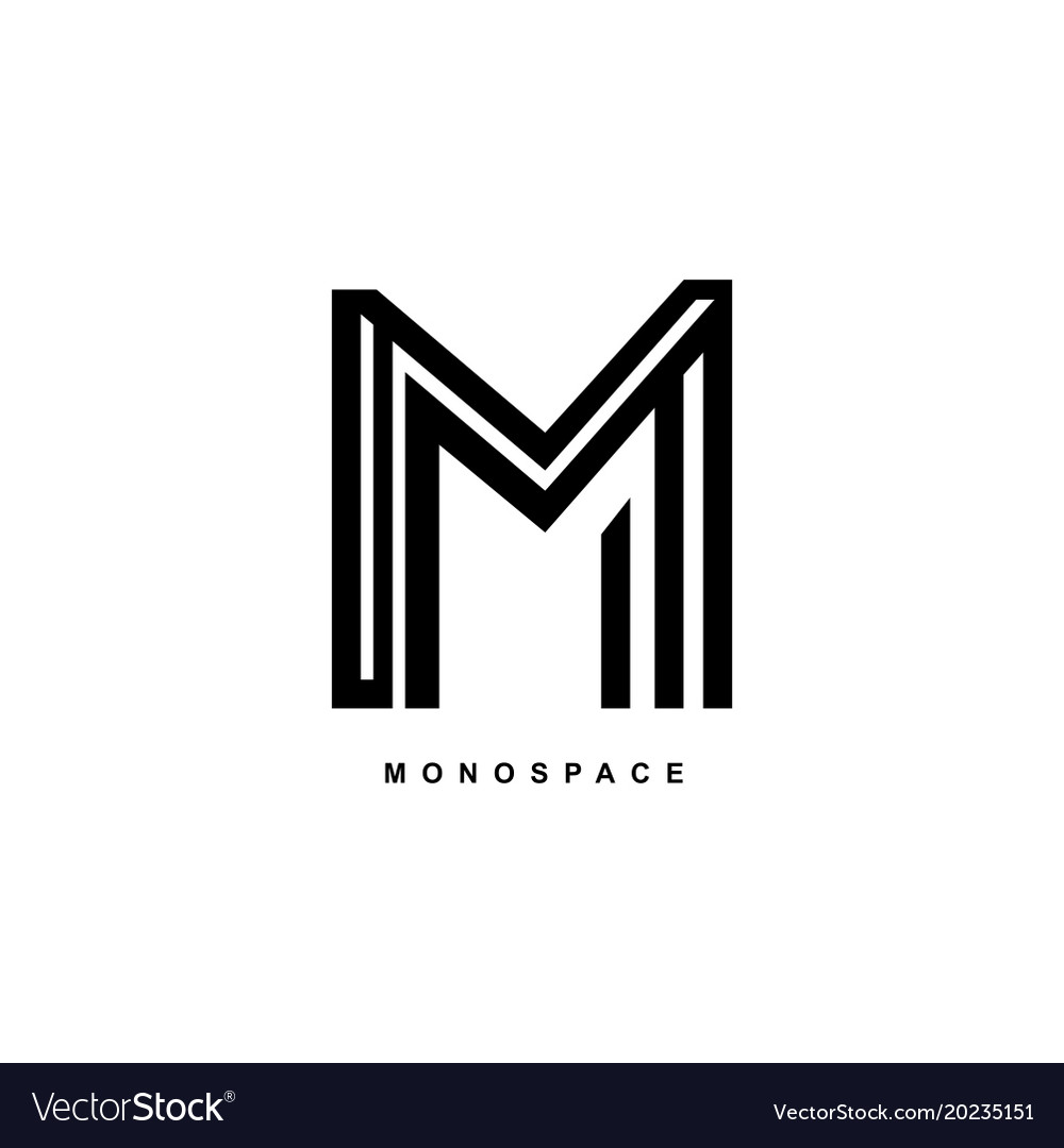 m logo simple elegant m monogram royalty free vector image