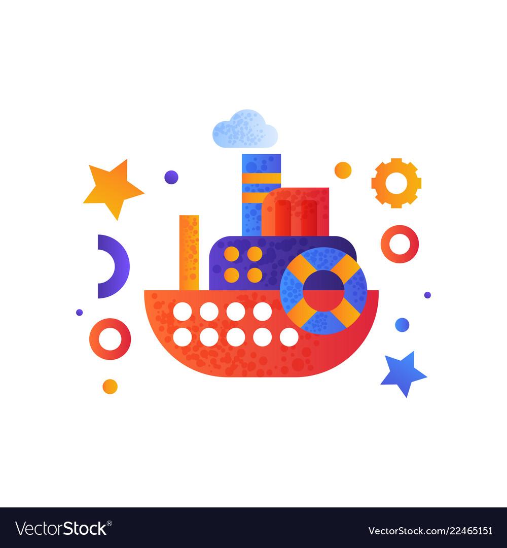 Passenger cruise ship sea travel retro toy water