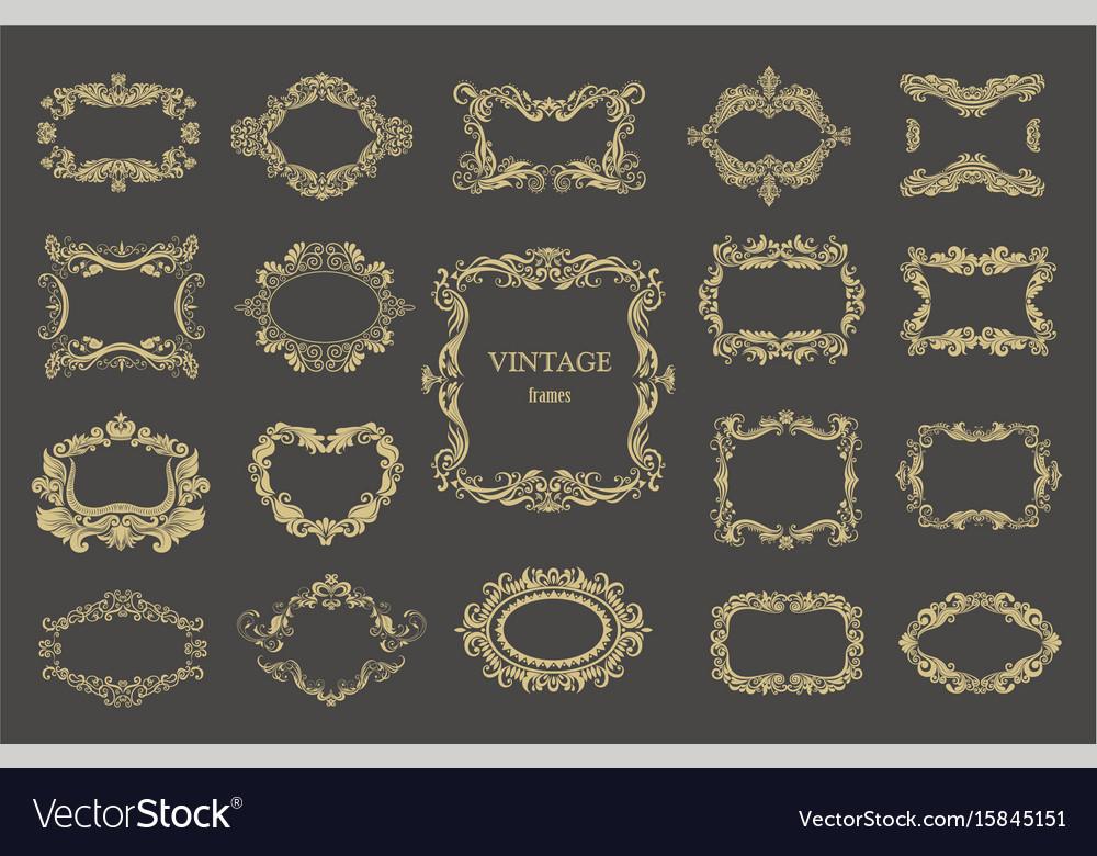 Set of vintage floral frames