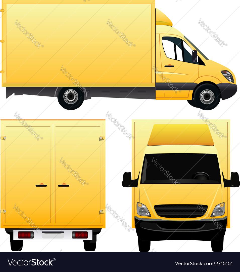 Yellow Cargo Van - Truck