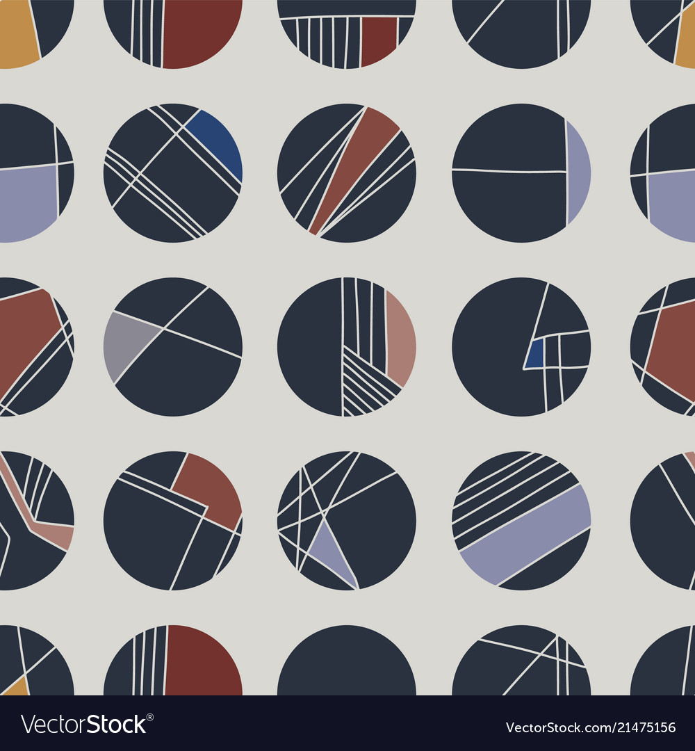 Abstract cream geometric circle grid