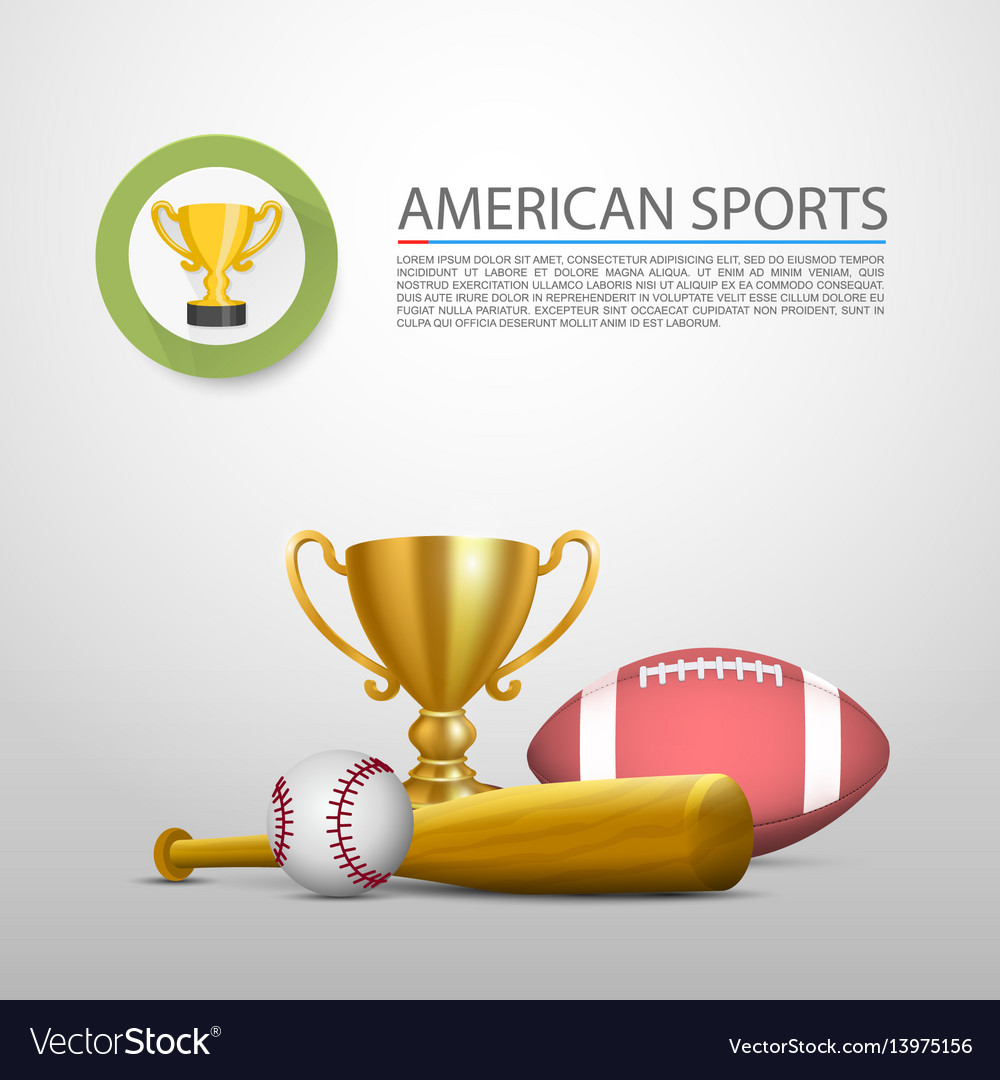 American sports sign cover object