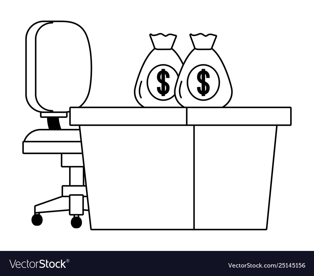 Wondrous Bank Work Desk Chair And Money Bags Black And Onthecornerstone Fun Painted Chair Ideas Images Onthecornerstoneorg